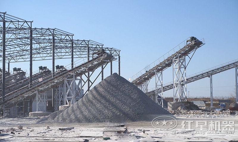石头粉碎成沙子成品