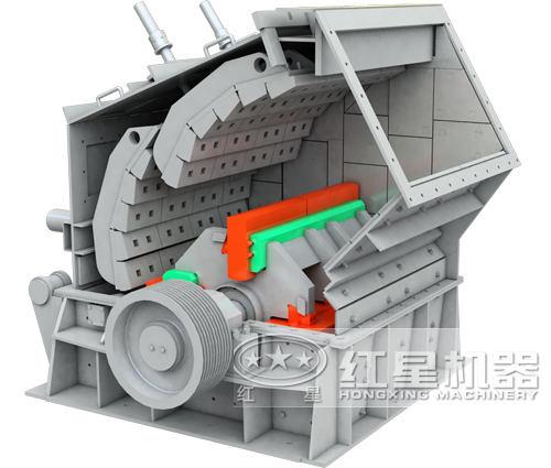 反击破碎机结构3d图
