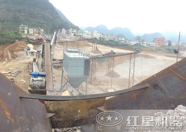 山东泰安时产500-600吨石灰石破碎生产线