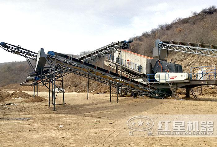 轮胎配置的流动式碎煤机