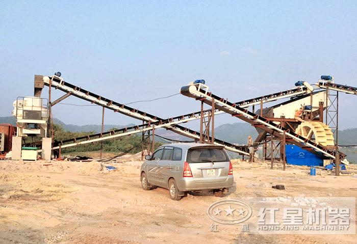 玄武岩破碎生产线流程
