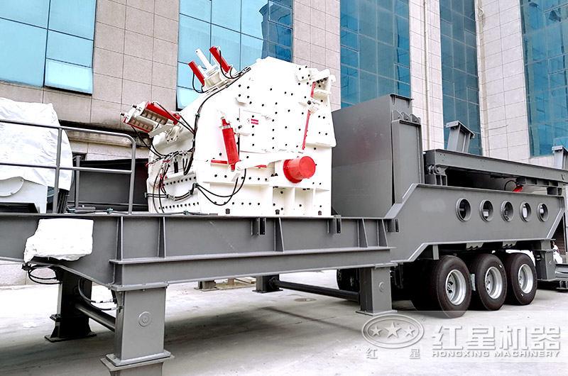 搭载颚式破碎机的可移动石子机