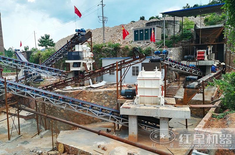 软石料机制砂生产线实拍