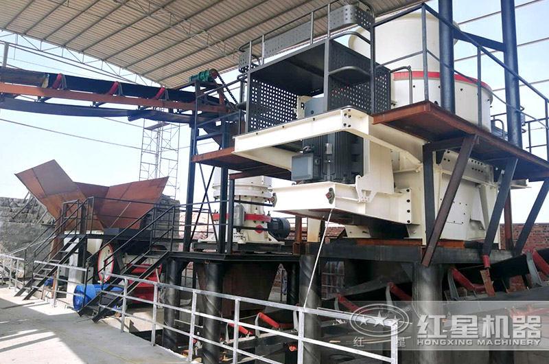 移动制砂生产线-建在厂房内环保防尘